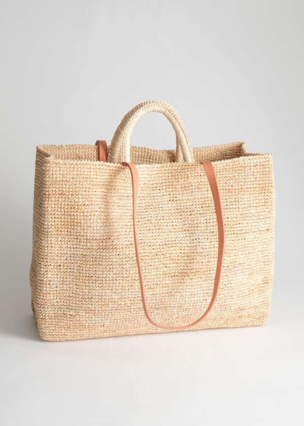 401d6cb64 Large Woven Straw Tote | & Other Stories #andotherstories #fashion #bags  #strawbags #totebag