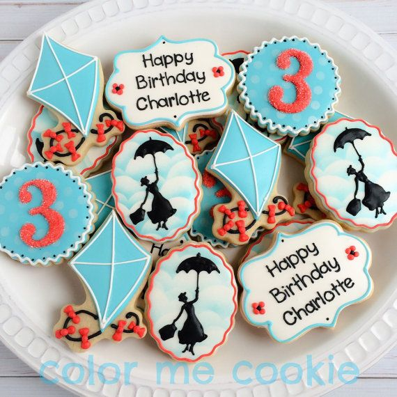 One dozen (12) MARY POPPINS THEME Sugar Cookies Etsy ColorMeCookies