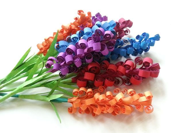 D.I.Y. Swirly Paper Flowers #paper_craft #papercrafts #quilling