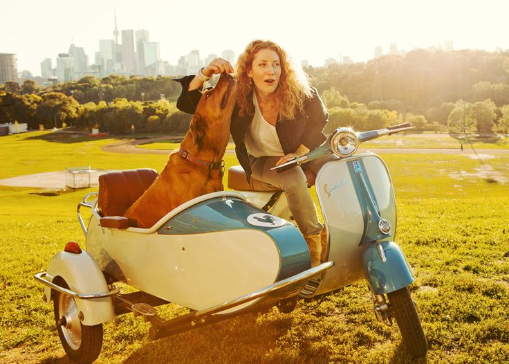 This is singer-songwriter Kathleen Edwards and her pooch, in a park just outside of Toronto, Canada. Vespas with sidecars attached have always been a...