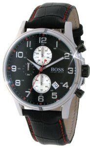 Hugo Boss Watch 1512631 Hugo Boss. $206.95. Water Resistance : 3 ATM / 30 meters / 100 feet. Chronograph Display. Black Leather Strap. Save 30% Off!