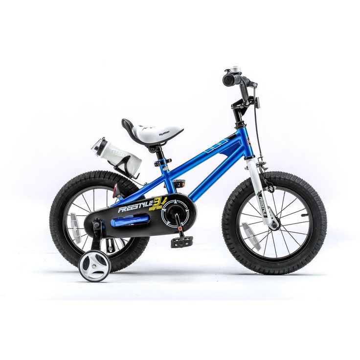 16 in. Wheels Freestyle BMX Kid's Bike, Boy's Bikes and Girl's Bikes with Training Wheels in Blue, Blues