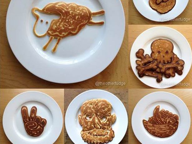 Learn how to get creative with your pancakes!Food Recipes, Mornings Breakfast, Creative Pancakes, Foodies Breakfast, Pancakes Parties, Breakfast Treats, Pancakes Breakfast, Breakfast Pancakes, Pancakes Art