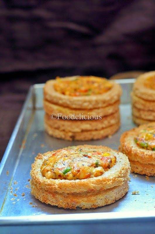 Baked Double Decker Cheese Rings- step wise  An amazing starter and snack which can please one and all.