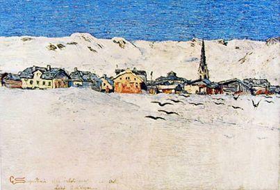 Giovanni Segantini, Savognino d'inverno