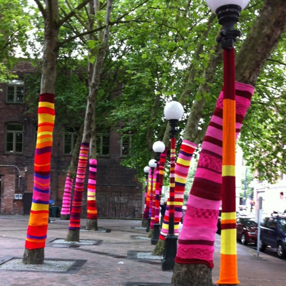 Urban knitting in pioneer square.