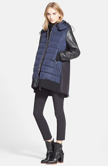 Moncler 'Blois' Mixed Media Coat available at #Nordstrom