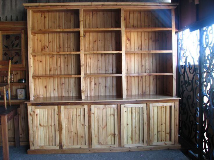 #NorthcliffAntiques: Bespoke unit from reclaimed wood. Design your unique piece with us to your specifications in size and we offer a variety of finishes. #AntiquesShops #Johannesburg #Bookshelves #Bespoke #Custom