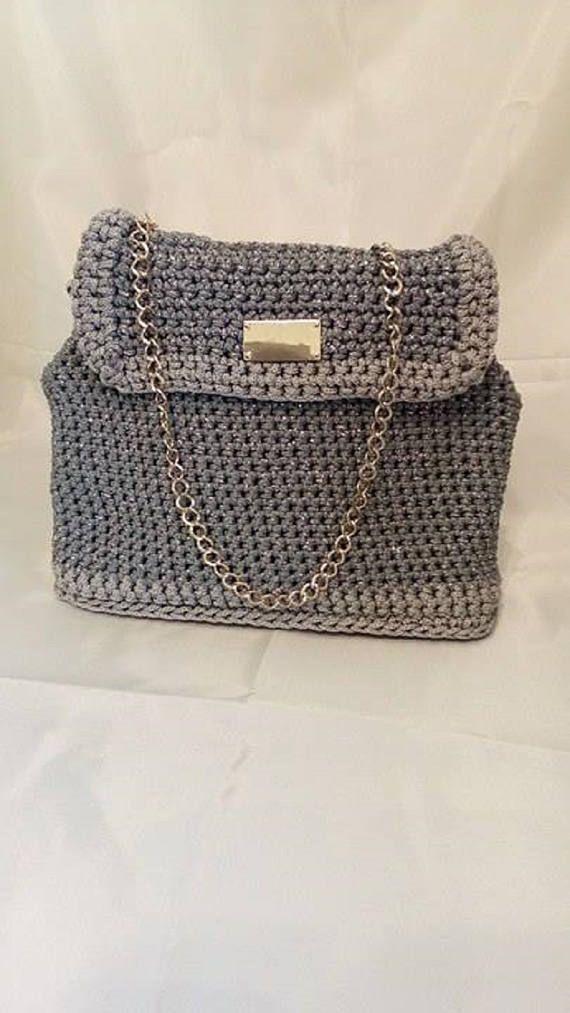 luxury crochet bag