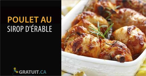 Cette recette de poulet au sirop d'érable vous donnera un plat original aux délicieuses saveurs sucré-salé qui surprendra vos invitées ! U