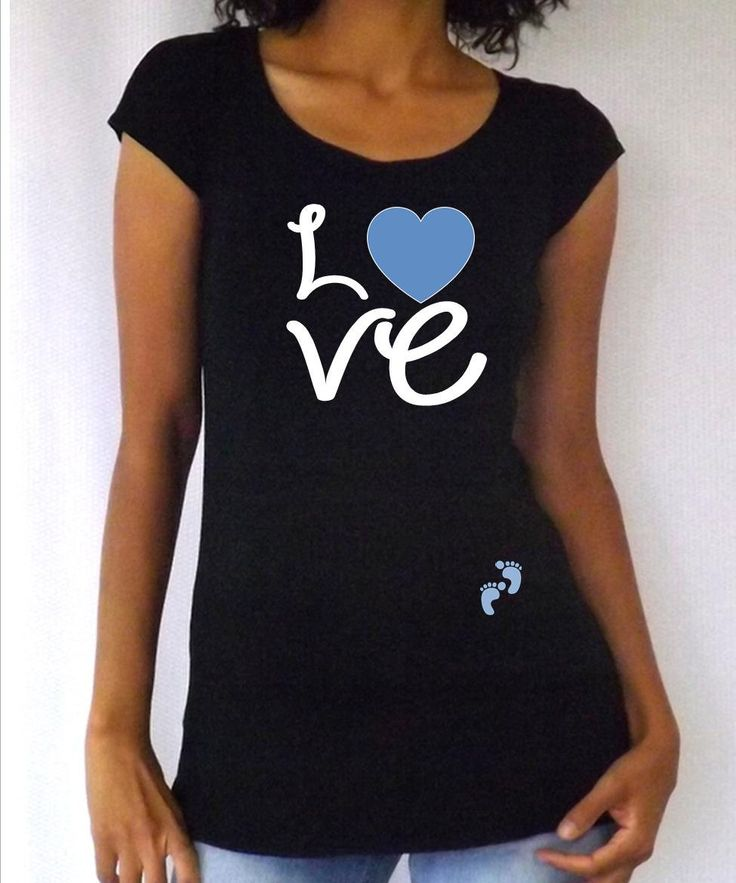 Funny cute maternity shirt love with footprints with for Funny cute maternity shirts
