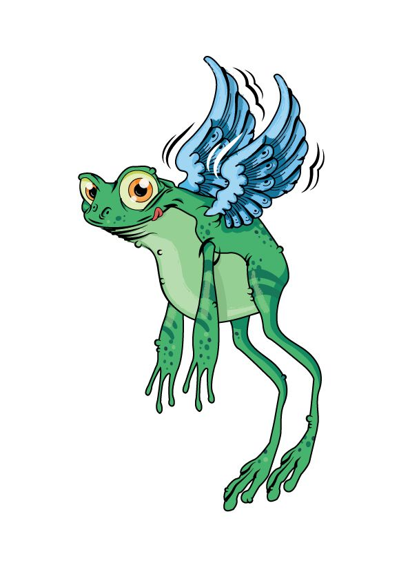 Flying Frog made for an English textbook called Tiddly Link 5 by Marcelle Versteeg.