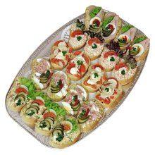 Obložené chlebíčky na vece  - mísa 20ks