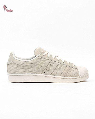 adidas Superstar, Chaussures de Gymnastique Homme, Blanc Cassé (FTWR White/FTWR White/FTWR White), 49 1/3 EUadidas