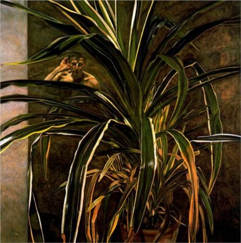 Lucian Freud, Interior with Plant, Reflection Listening (Self-Portrait), 1967 - 1968 Kunsthistorisches Museum, Wien 12/2013