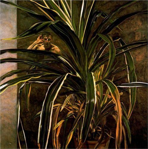 Lucian Freud, Interior with Plant, Reflection Listening (Self-Portrait), 1967 - 1968 Kunsthistorisches Museum, Wien 12/2013
