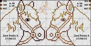 Σχέδια με πόνυ και άλογα κεντημένα σταυροβελονιά   Cross stitch ponies , horses and rocking horse                      ...