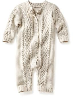 Cable-Knit Footless One-Piece for Baby | Old Navy