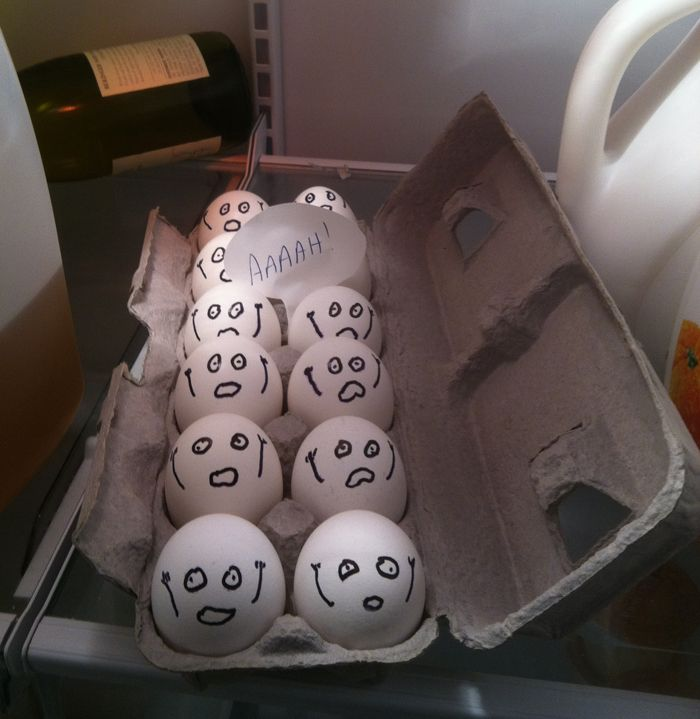 Fun things to do to your parents' refrigerator while they are on vacation.
