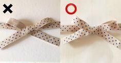 簡単きれい! リボンの柄が裏返らない結び方 - ラッピング   tetote-note(テトテノート)