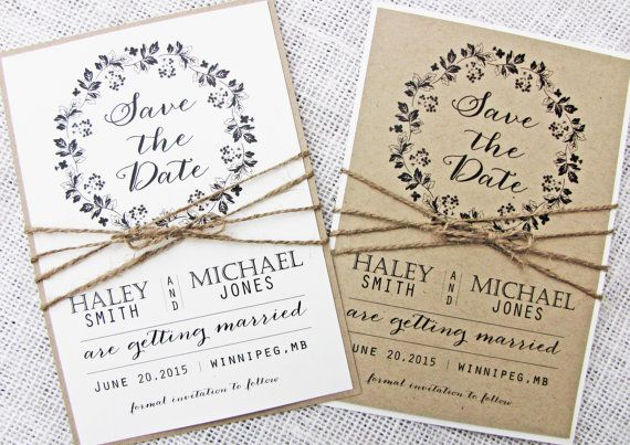 Rustic Save the Date Card,Save the Date, Burlap and Lace Invitation,Wedding Save the Date  Printed on Kraft or off white and tied with twine, the