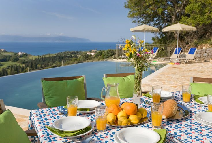 One of the most striking features, apart from those magnificent sea views across to nearby Greek islands, is the superb, wide sun terrace bordering the large shimmering, infinity edged swimming pool.