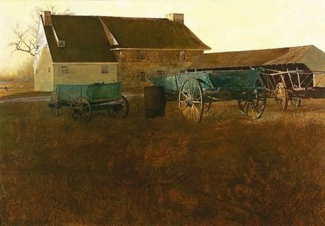 Andrew Wyeth, Marsh Hawk on ArtStack #andrew-wyeth #art: