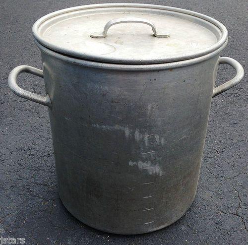 U S Cooking: 1940 U S Army Or U S Navy Aluminum Cooking Pot W Lid