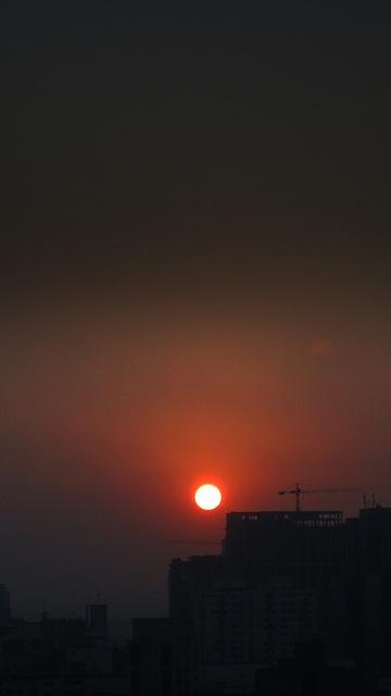 Por do sol em São Paulo 07/08/2012