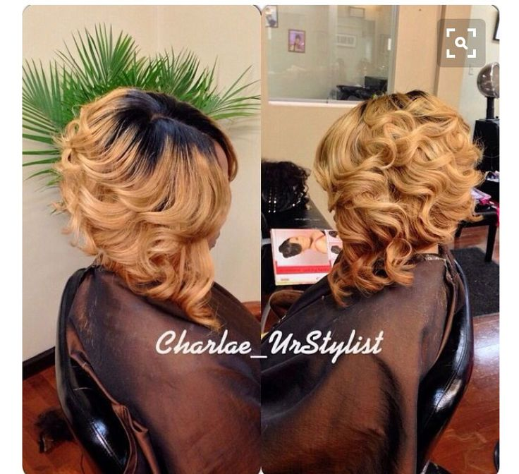 Curly Asymmetrical Bob Weave Or Wig Lay It Straight