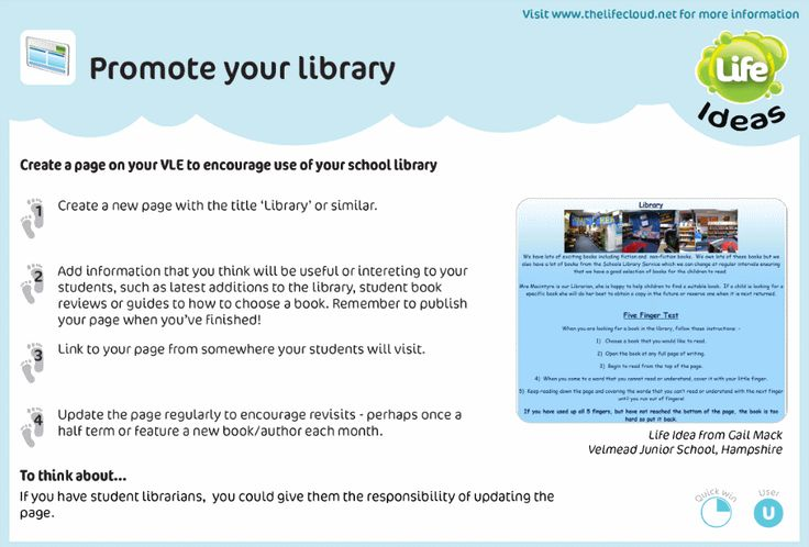 Use a library page to promote offline reading habits online A - library page