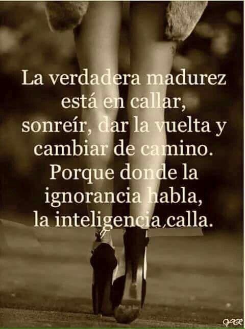 Donde la ignorancia habla*...