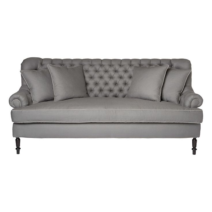 Slate tufted sofa tufted sofa slate and cushion filling for Couch 0 interest