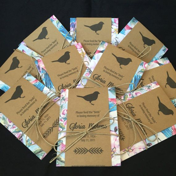 Personalized Memorial Bird Seed Packets