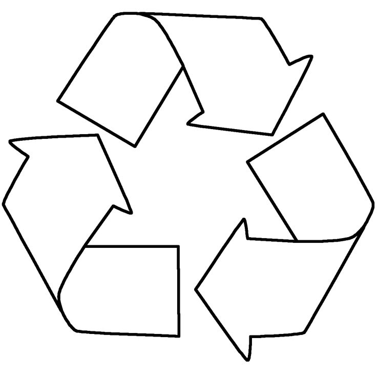 Recycling Sign Coloring Page