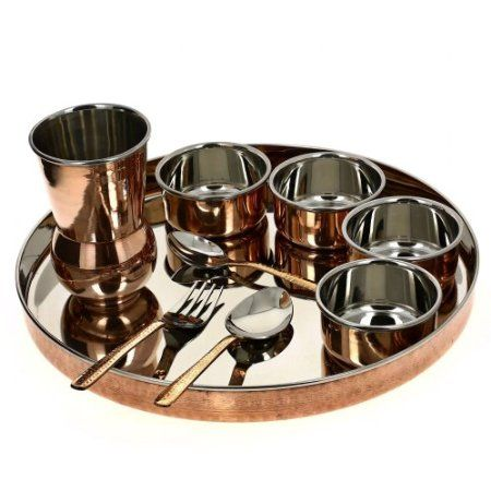 Dinnerware Set Servics for 2, Indian Traditional Thalis: Amazon.co.uk: Kitchen & Home