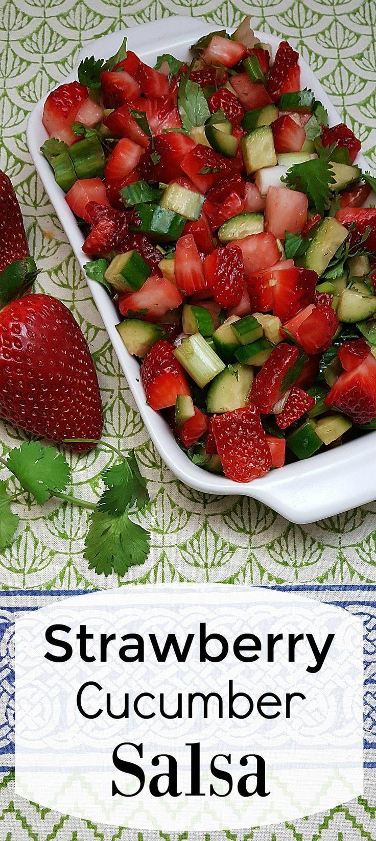 Strawberry Cucumber Salsa