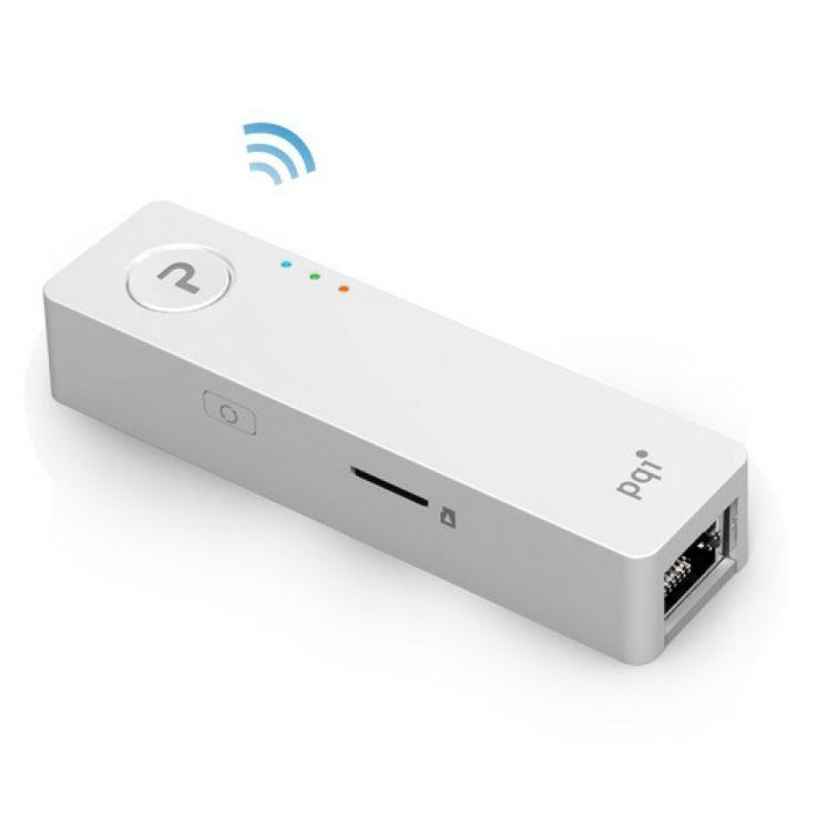 PQI Air Pen - Bezprzewodowy nośnik pamięci Flash z obsługa kart microSD/microSDHC o pojemności do 32GB wykorzystuje technologię WiFi i umożliwia jednoczesne dzielenie danych pomiędzy pięć różnych urządzeń z systemami iOS lub Android.
