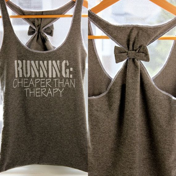 DIY Bow Tee Tanks: Workout Shirts, Running Workout, Workout Clothing, Workout Outfits, Bows, Workout Clothes, Summer Clothing, Diy Projects, Tanks