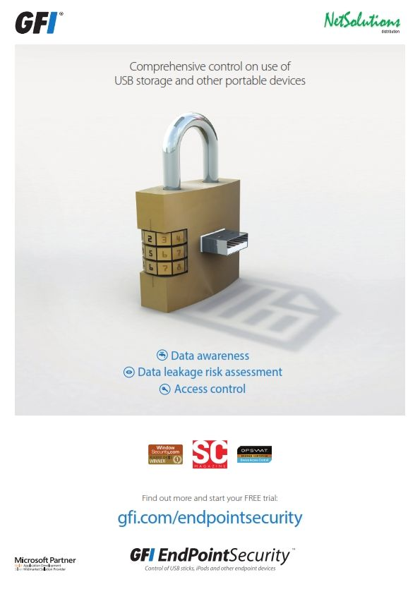 PT. #Netsolutions Infonet #GFI EndPointSecurityComprehensive control on use of USB storage and other portable devices