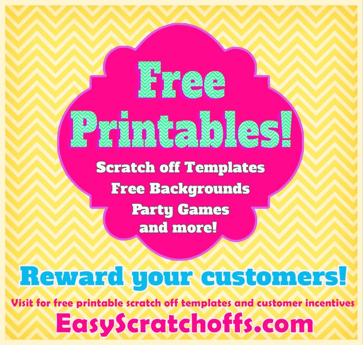 free printables  print your own scratch off cards  party games and more   printables