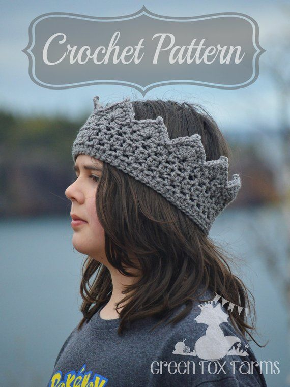 Crochet Pattern, Boys Crown Pattern, Birthday Crown, Crochet Crown ...