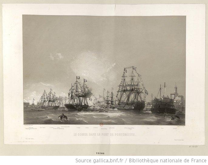 Le Gomer dans le port de Portsmouth : [estampe] - 1