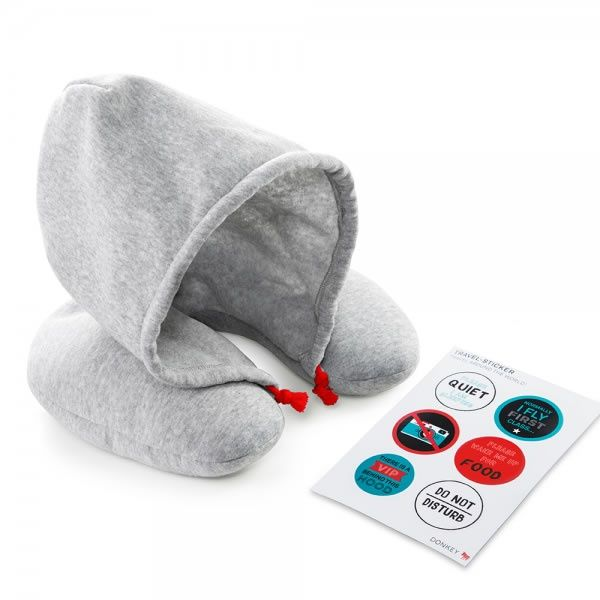 "Reisekissen mit Kapuze ""Chill Out"" von Donkey Products"
