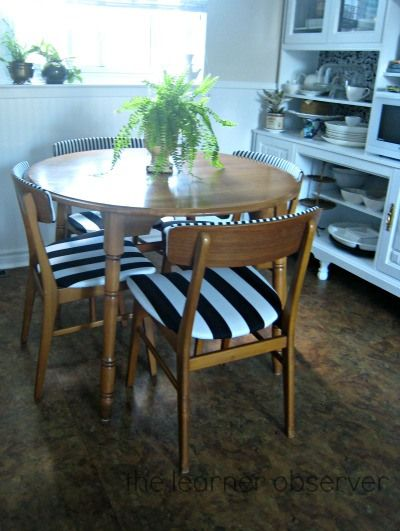 Reupholstering Second Hand Kitchen Chairs