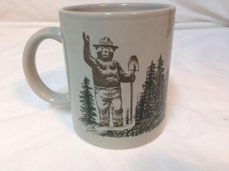 Smokey The Bear Vintage Coffee Mug Cup Firefighter Fire