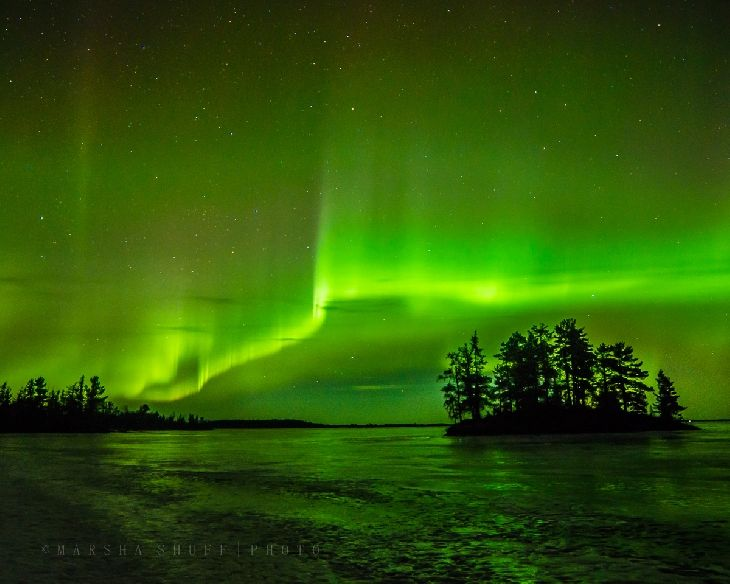 Aurora Borealis - International Falls, Minnesota on Rainy Lake