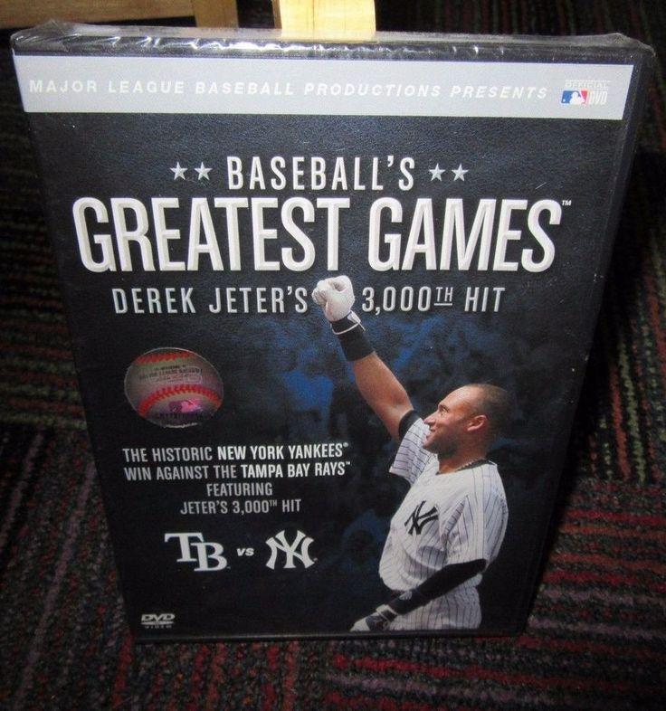 NEW MLB: BASEBALL'S GREATEST GAMES DEREK JETER'S 3,000TH HIT DVD, NY YANKEES,NIP