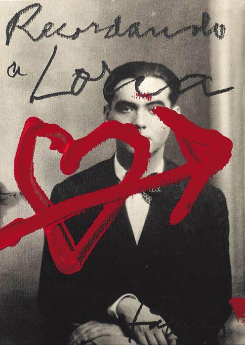 Postcard of Frederico Garcia Lorca by Antoni Tapiès, 1998