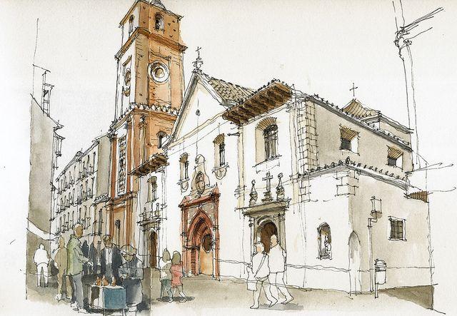 Málaga, iglesia de Santiago